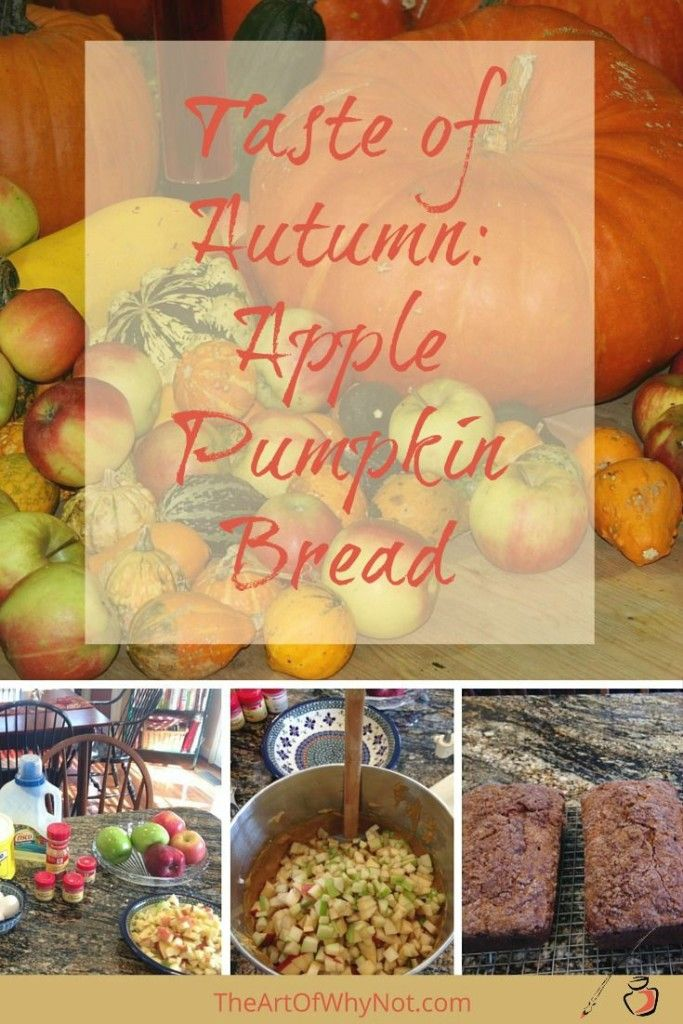 This apple pumpkin bread tastes like autumn on a plate: apples, pumpkin…