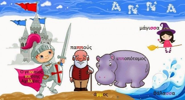 Ένα παραμύθι για να μάθουμε τις λέξεις με διπλά σύμφωνα