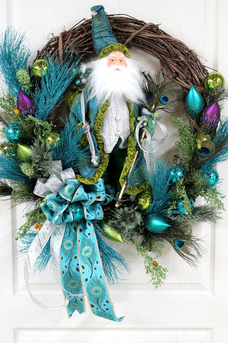Best images about peacock feather wreaths on pinterest