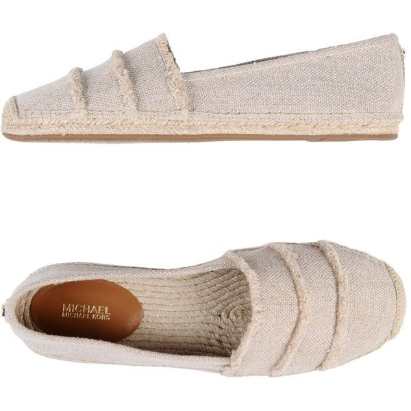 Michael Michael Kors Espadrilles (29 KWD) ❤ liked on Polyvore featuring shoes, sandals, beige, flat espadrille sandals, animal shoes, beige espadrilles, round toe flat shoes and round toe sandals