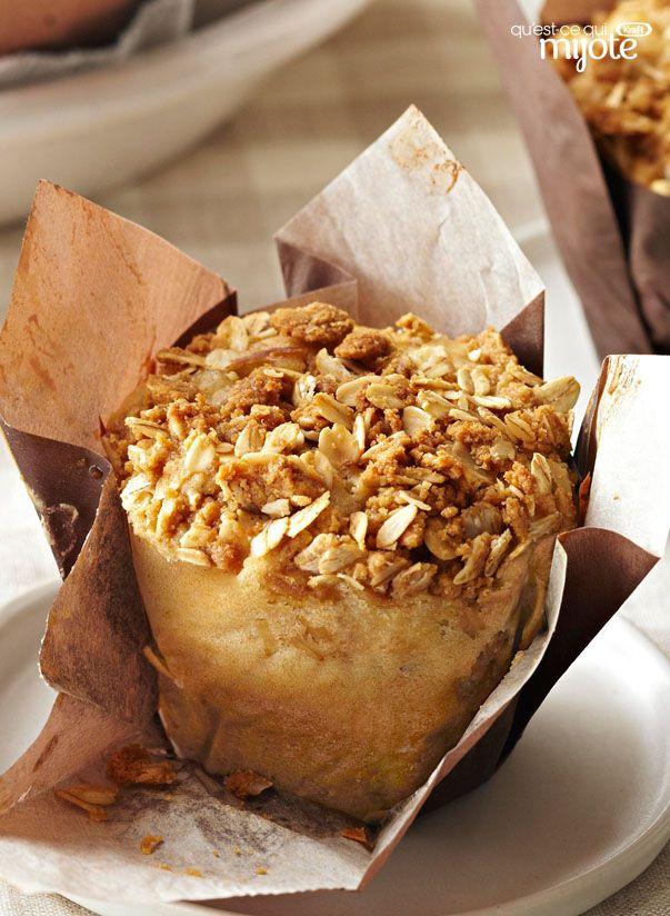 Muffins aux pommes et au beurre d'arachide façon streusel #recette