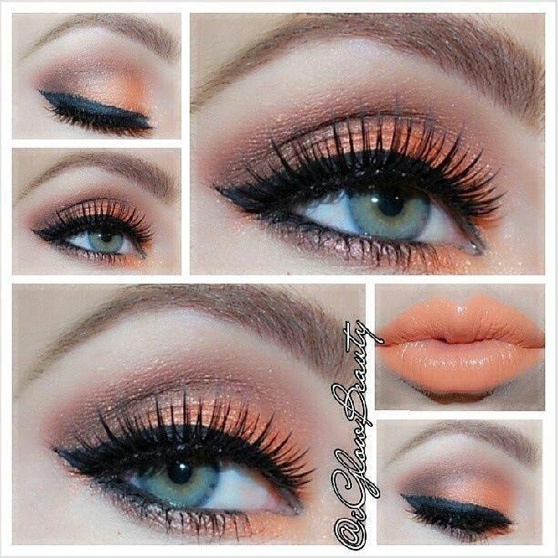 ojos maquillados de coral imagui