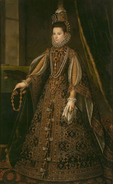 Portrait of L'infante Isabelle-Claire-Eugénie (daughter of the Spanish king Filip II): circa 1585.