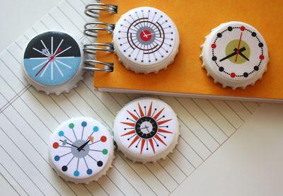 DIY midcentury modern clock magnets