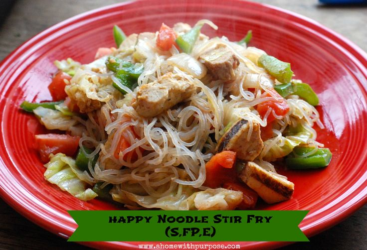 Happy Noodle Stir Fry (S, FP or E) ~  A new yummy recipe that can fit any fuel on THM.  It's a great low carb meal.