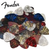 Fender DPS-FN-48PK Premium Celluloid Guitar Picks - 48 Piece Assorted Variety Pack, 351 Shape with 24 Medium Gauge, 12 Light Gauge, and 12 Heavy Gauge Guitar Picks