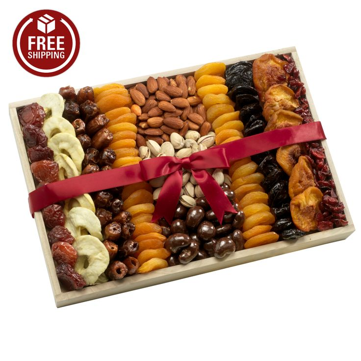 Deluxe Dried Fruit and Nuts Gift Tray