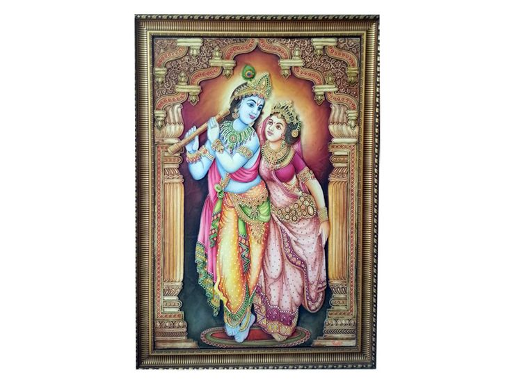 An amazingly crafted Radha Krishna painting will definitely add an aura of peace and serenity to your surroundings at home. Made of ceramic clay and MDF, this wall painting is perfect to be a part of temple at your home. View more paintings at www.folkcart.com