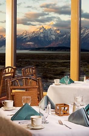 I remember having breakfast on the lake at Jackson Lake Lodge in Wyoming with an incredible view. This is a good example of that. We had their famous Blueberry Pancakes, but I would like to go back as an adult and see Yellowstone National Park, The Grand Tetons, and .. yes Moose, Wyoming. Of course. http://www.gtlc.com/dining/jackson-lake-lodge-the-mural-room.aspx