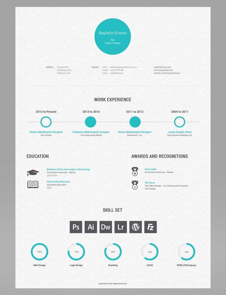 33 best Resume Template images on Pinterest Resume, Resume - graphic designers resume