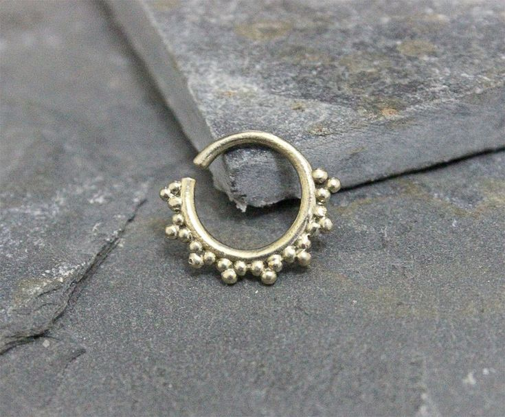 Antique Silver Septum Ring, Earring, Cartilage Ring, Nipple ring, Helix, Rook, Bendable,16G Septum Jewelry, Piercing Jewelry by Purityjewel on Etsy