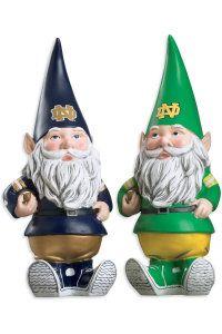 SPIRIT PRODUCTS LTD. : F1128B1 Football Gnome : Hammes Notre Dame Bookstore : www.nd.bkstr.com