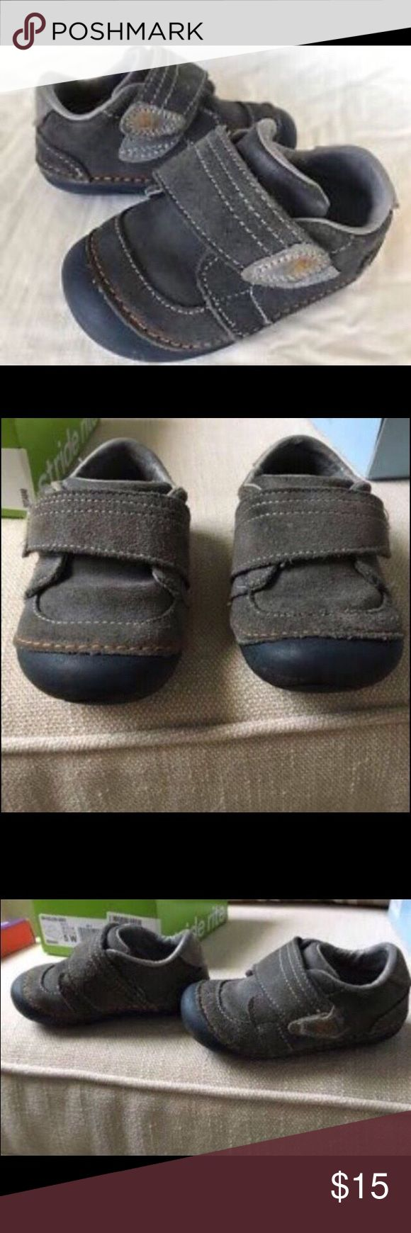 """Stride Rite Toddler Boy 4.5 Extra Wide Shoes Size 4.5 Extra Wide. Very Gently Used. Excellent Condition. Grey with Velcro strap. Stride Rite """"Kellen"""" Shoe. Stride Rite Shoes Baby & Walker"""