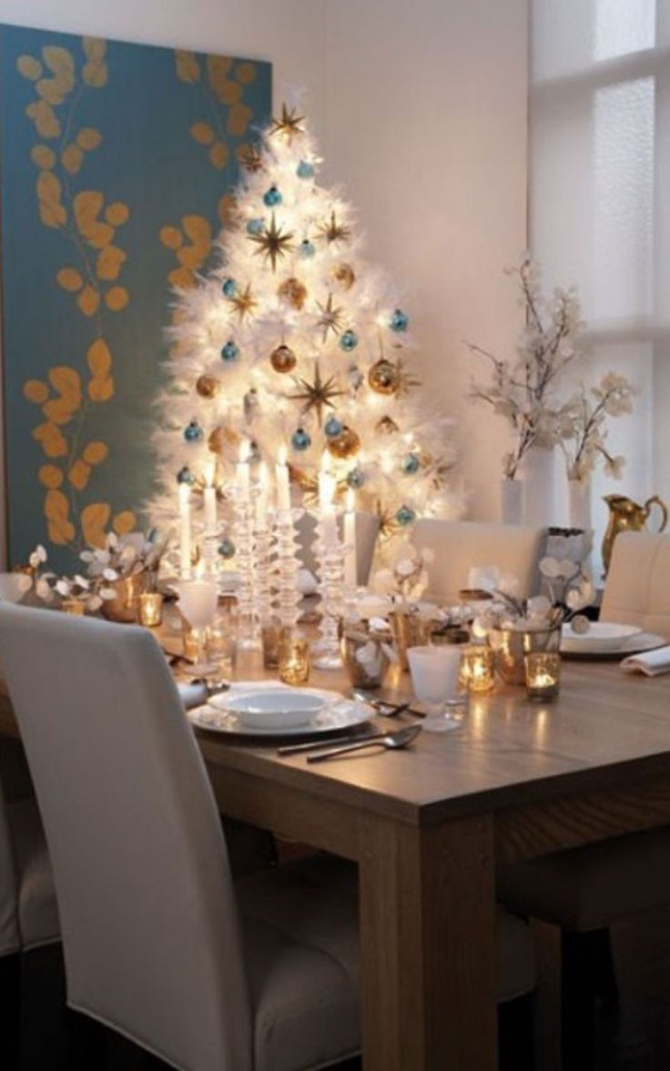 simple and luxury christmas tree decorations ideas - Decorating A Small White Christmas Tree