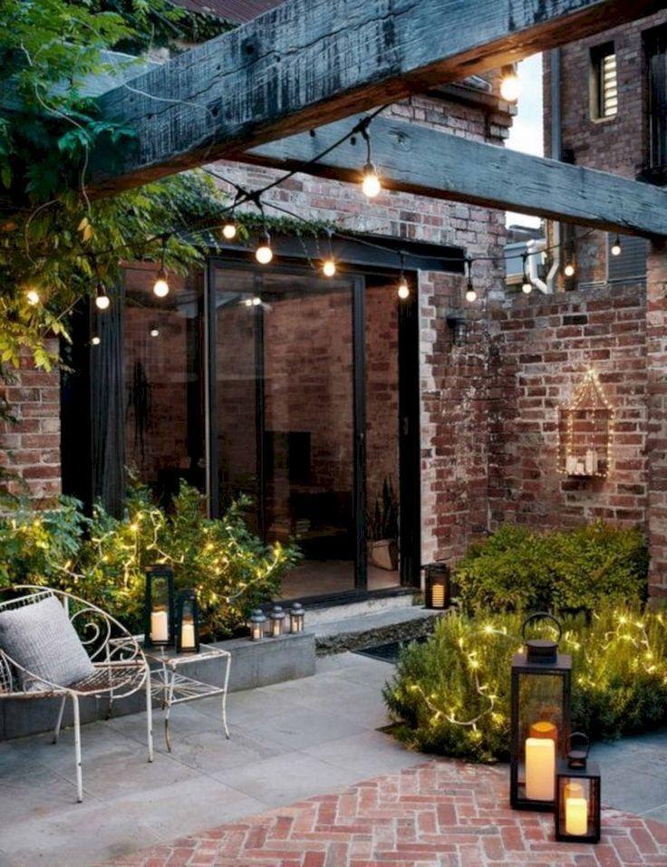 15 Creative Courtyard Garden mit Sitzbereich Design , #courtyard #creative #des