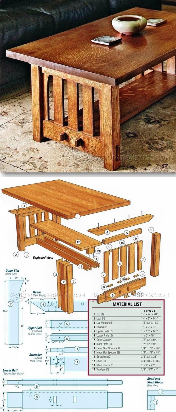 Mission coffee table plans furniture plans and projects for Pdf carpinteria muebles