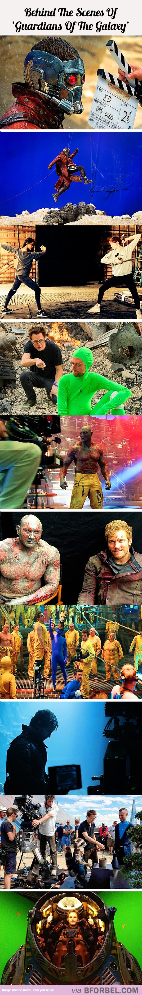 """Behind The Scenes Of """"Guardians Of The Galaxy""""…"""