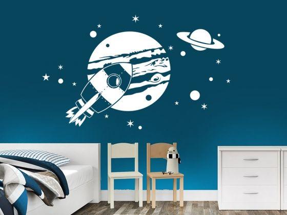 Fabulous Planeten im Weltraum Wandgestaltung KinderzimmerWandtattoo