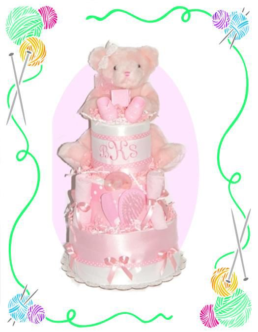 Pretty In Pink Diaper Cake