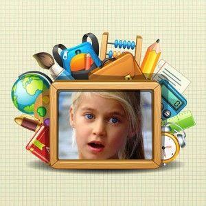 Collages Infantiles para la Escuela con estos alegres marcos collage gratis.