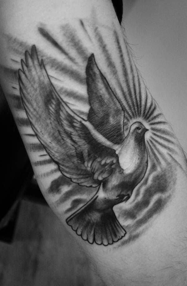 122 best tattoo images on pinterest blessed virgin mary catholic 55 peaceful dove tattoos voltagebd Images