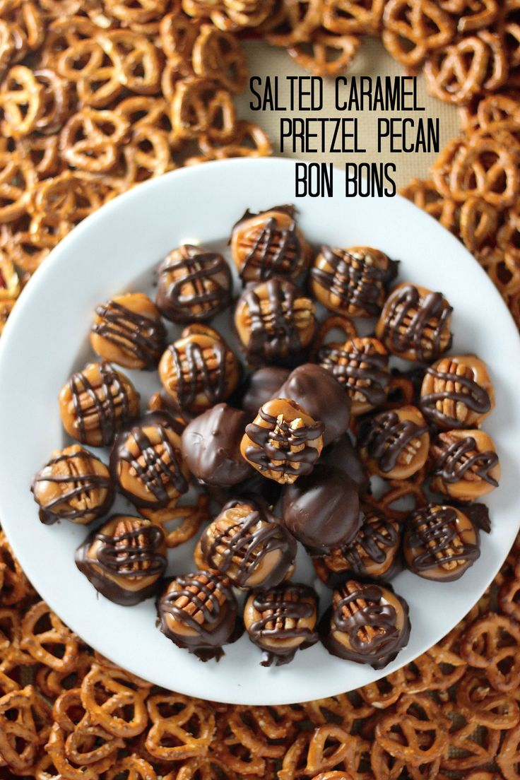 Salted Caramel Pretzel Pecan Bon Bons