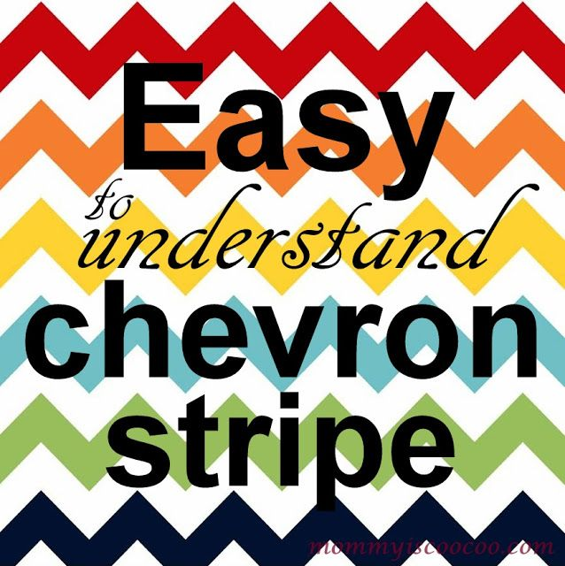 The easiest chevron pattern ever!!!!! Chevron Stripes Chevron Pattern Tutorial http://www.mommyiscoocoo.com/