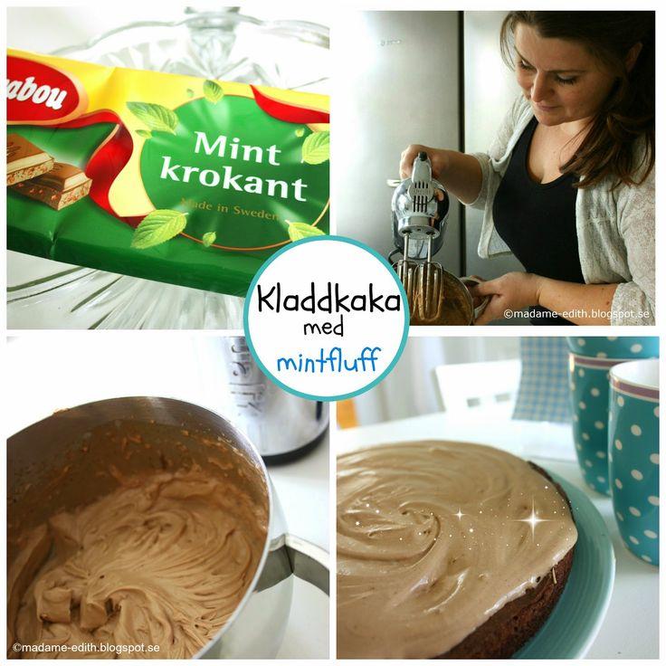 Madame Edith - Enkla recept och Klassisk inredning: Supergod kladdkaka med mintchokladfluff