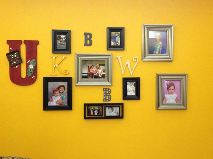 Family photo collage wall