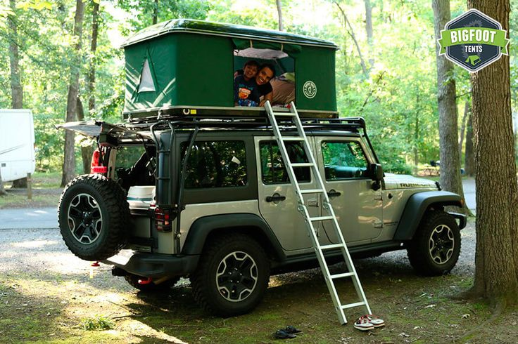 Hard Shell Jeep Roof Top Tent Black