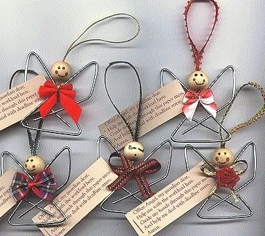 Paperclip Angel Neat O Christmas Crafts Christmas Ornaments