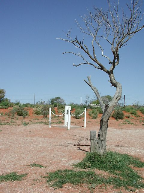 Cameron Corner Post, where NSW, QLD and SA join in outback Australia