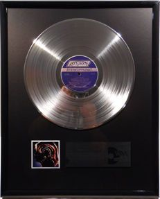 "The Rolling Stones - Hot Rocks - 12"" London for Nation Record platinum plated record by WWA Awards"