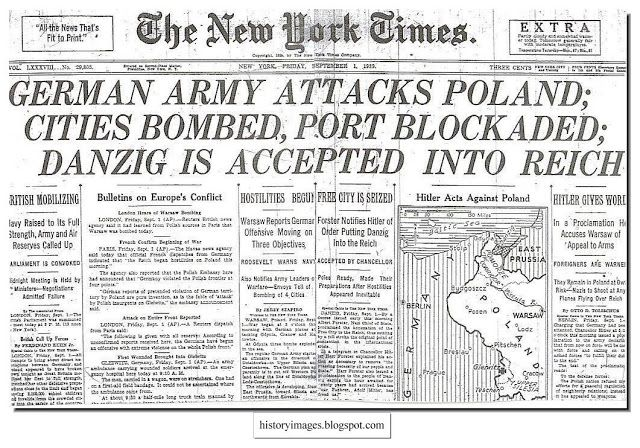 HISTORY IN IMAGES: Pictures Of War, History , WW2: Germany invades Poland, September 1939
