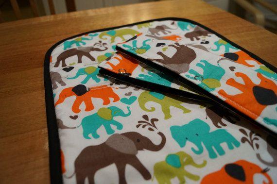Pram Liner Set - Elephant Walk - Universal Fit, 100% Cotton on Etsy, $45.00 AUD