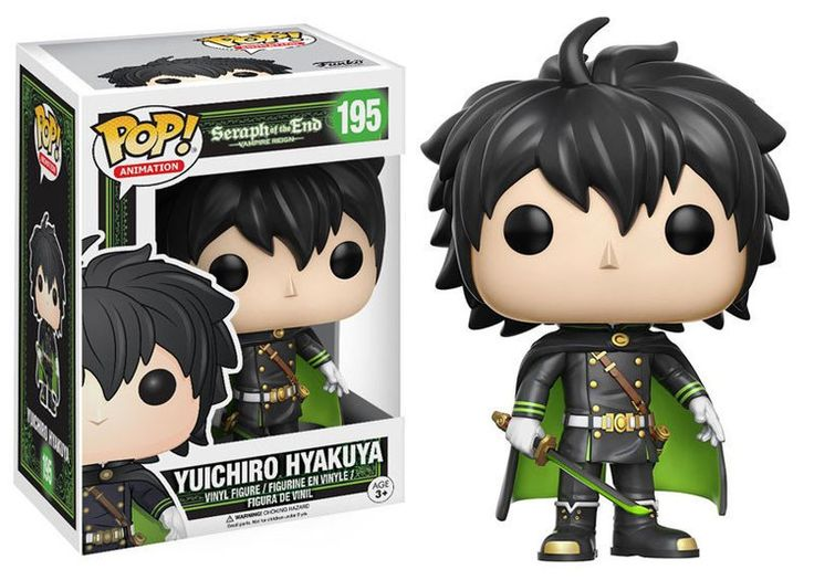 Seraph of the End POP! Animation Vinyl Figur Yuichiro Hyakuya 9 cm