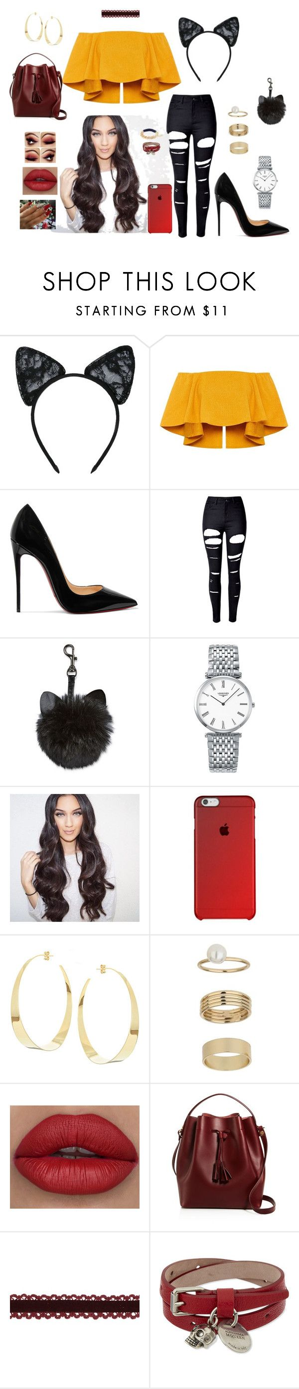 """Fire (inspiraction)"" by anaritaferreira on Polyvore featuring moda, Maison Close, Christian Louboutin, WithChic, Longines, Lana, Miss Selfridge, Céline Lefébure e Alexander McQueen"