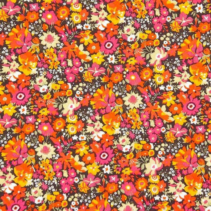 Liberty Tana Lawn Cotton Fabric Manuela Orange 136cm