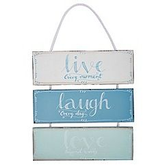 At home with Ashley Thomas - 'Live Laugh Love' hanging sign