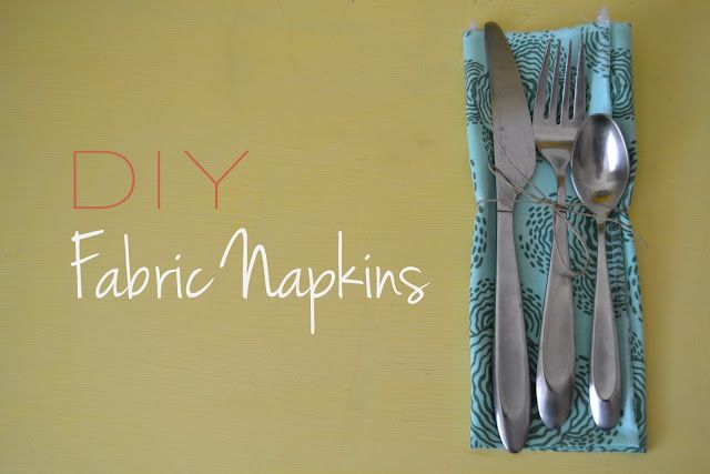 Bellapia Clothing Co.: DIY Fabric Napkins- Love Your Mom