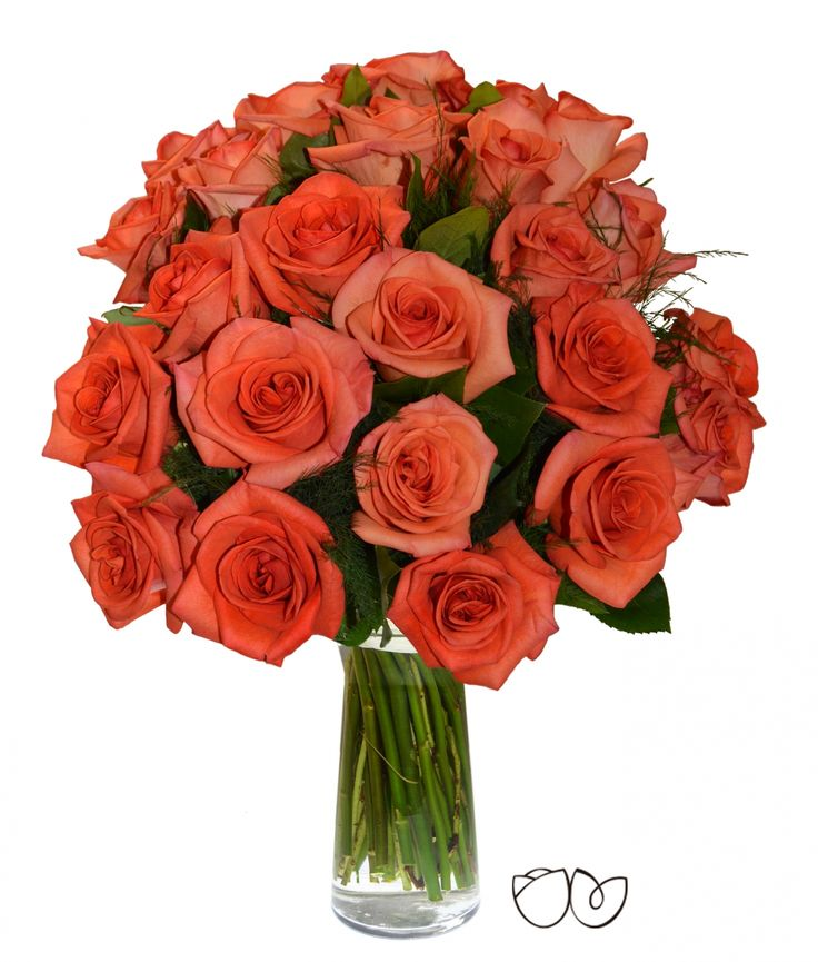 Ramo de rosas naranjas *Camino de rosas* Recuérdale a esa persona que quieres lo especial que es para ti, con un precioso ramo de rosas de color naranja y abundantes verdes variados.