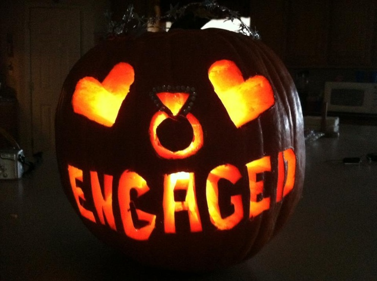 Engaged Pumpkin...You can make me one of these if you'd like Shers! haha