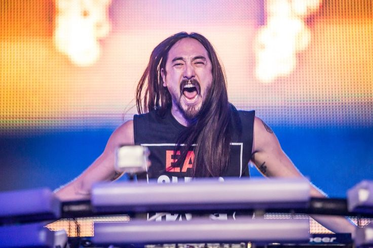 The DJ's on fire. Steve Aoki lights up during a performance on Nov. 15 in Los Angeles: The Angel, Photo