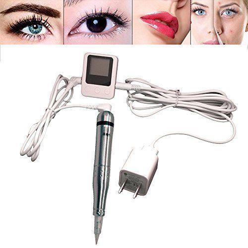 Hair Stroked Eyebrow Tattoo Machine Permanent Makeup Pen Professional SILVER #Pinkiou