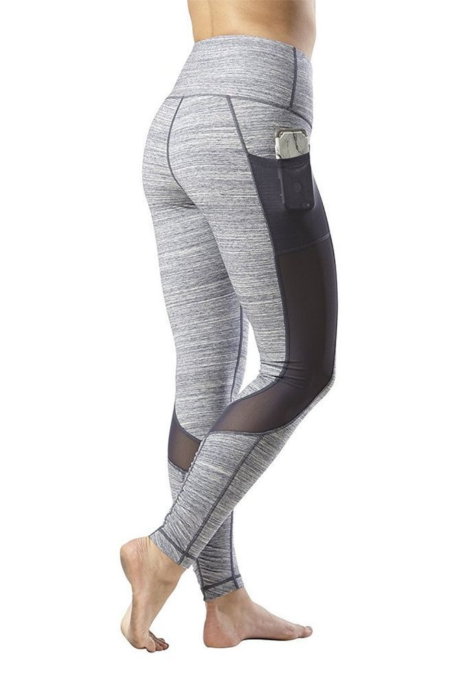 b27d327fc3797 Yogalicious High Waist Phone Pocket Mesh Tummy Control Leggings Size S    eBay #leggingspocketstummycontrol