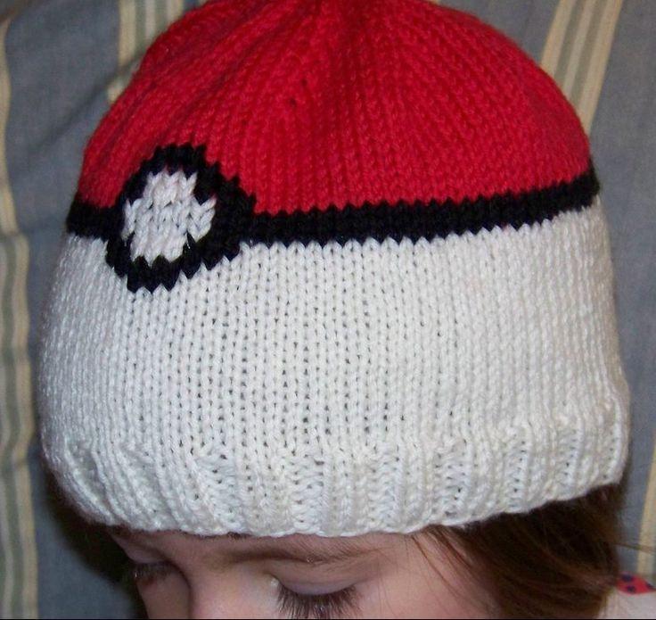 Free knitting pattern for Pokeball Hat for Pokemon fans