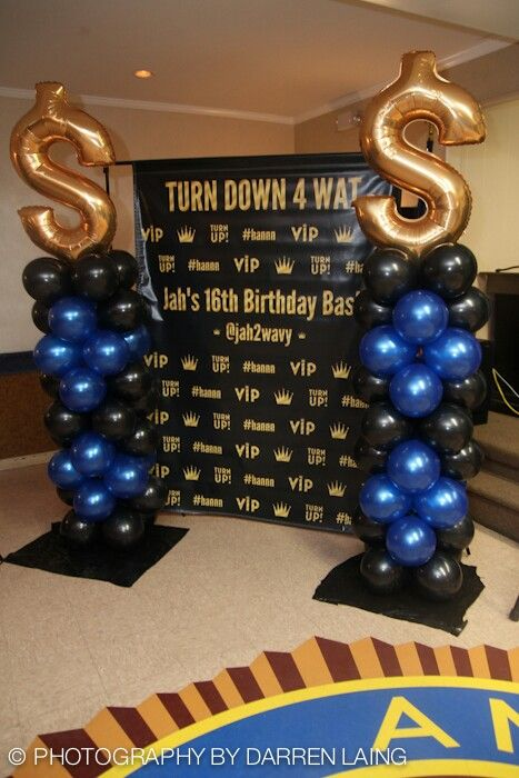Personalization makes any event exclusive. Custom backdrop for boys 16th birthday  eLleRouge presents Jahlil 16th birthday event, Turn Down for Wat!