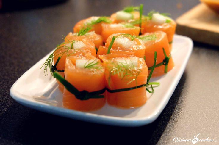 Maki de saumon pommes et fenouille