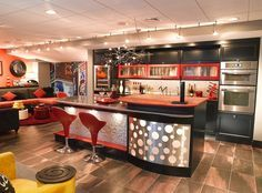 Chic basement bar takes you back to the 70s!