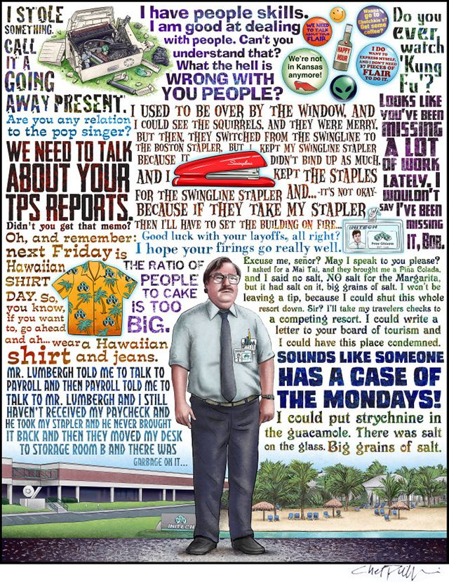 Case of the Mondays Office Space Tribute by ChetArt